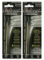 Fisher Space Pen Su4f Universal Refill / Two (2) Black su Series Ink Refills