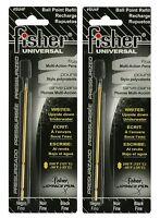 Fisher Space Pen Su4f Universal Refill / Two (2) Black su Series Ink Refills
