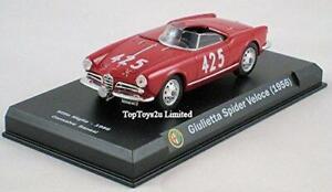 Sellado-Alfa-Romeo-Guiletta-SPIDER-VELOCE-oficial-1956-1-43-Diecast-Coleccionistas