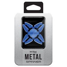 Blue Fidget Spinner 4 Point Metal Spinner