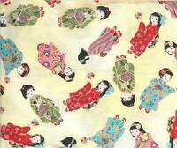 Rare Darling Michael Miller kyoto Girls -c1508 - Fq - 18x22