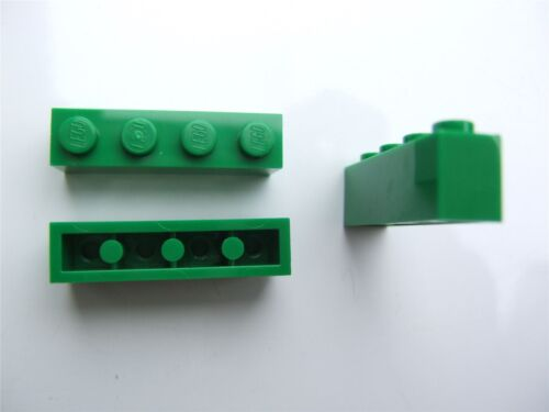 – 4112838 3 x Lego Green rectangular bricks size 1x4 Parts /& Pieces