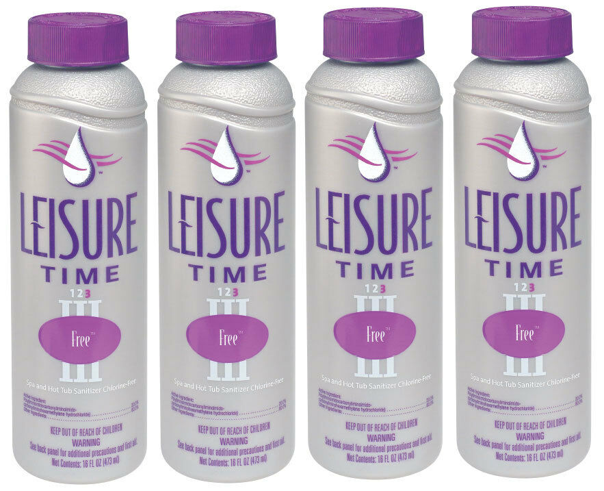 Leisure Time Spa Chemicals Free Sanitizer - 4 x 1 Pint