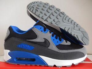 online retailer d9b46 35aa0 Image is loading NIKE-AIR-MAX-90-ID-BLACK-GREY-BLUE-