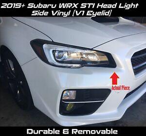 Details about Head Light Side Vinyl Eyelid V1 for 2015 - 2020 Subaru WRX STi