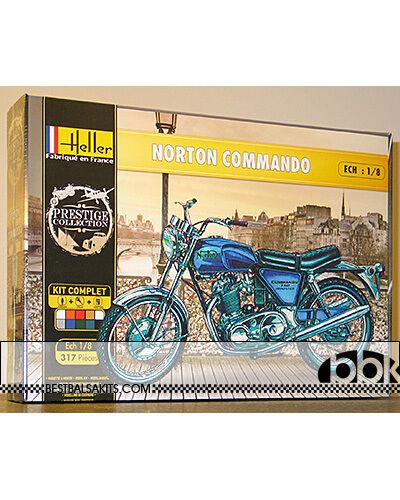 HELLER 1  8 NORTON COMMANDO cykel modellllerL KIT
