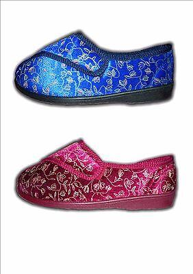 Cierre señoras de ancho de montaje Velc Lavable Pantuflas Tallas 3-8