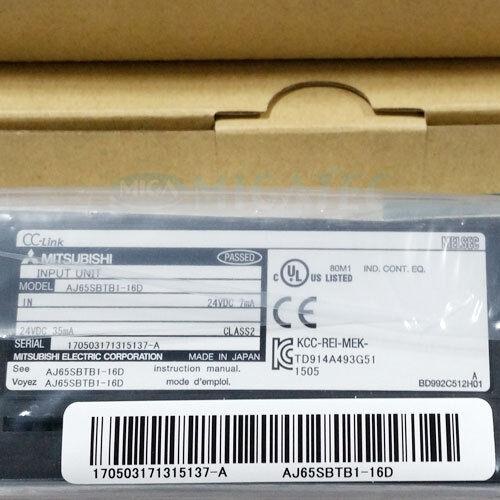 NEW MITSUBISHI Genuine AJ65SBTB1-16D Remote I//O Module Input Module PLC