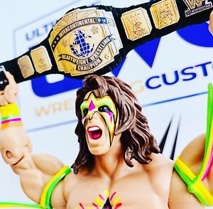 WWE-WWF-Cuero-Real-titulo-Intercontinental-por-Hasbro-Mattel-Jakks-figuras