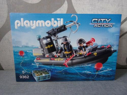 Playmobil City Action 9362 SEK-Schlauchboot Neu /& OVP