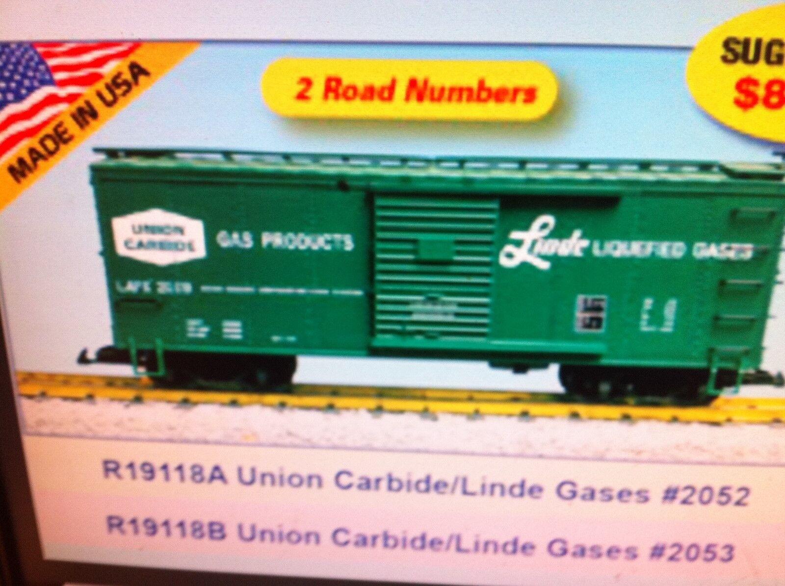 Förenta staternas tåg G skala R19118B Union bilbide Linde Gases grön Rd NY RELEASE