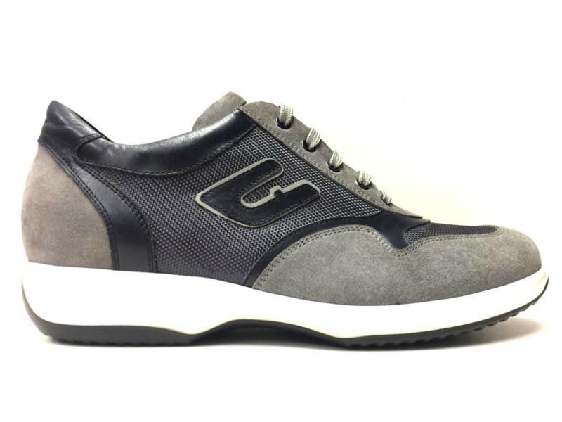 Scarpe Casual Sneakers Uomo Ugo Arci 2950 08 A 22bn Pelle Grigio Original Ai New