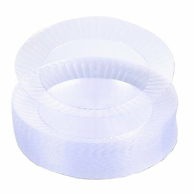 """50 Clear Wedding Birthday Party Tableware 10.25"""" Round Plastic Plates"""