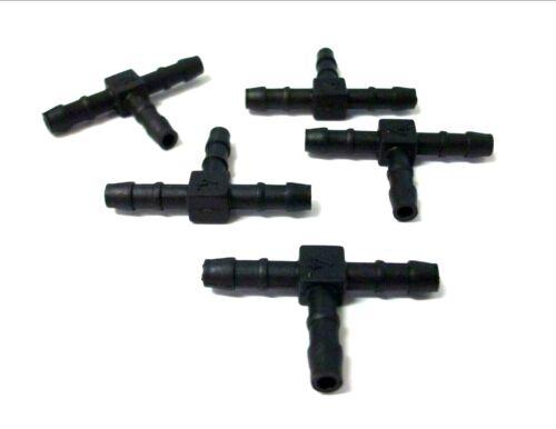 SPINATO CONF da 5 TUBO Connettore * Alta qualità! 5mm T Pezzo FALEGNAME FUEL