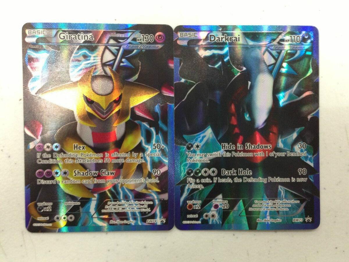 Pokemon Team Plasma Darkrai BW73 & Giratina BW74 FULL ART Promo Cards (Set of 2)