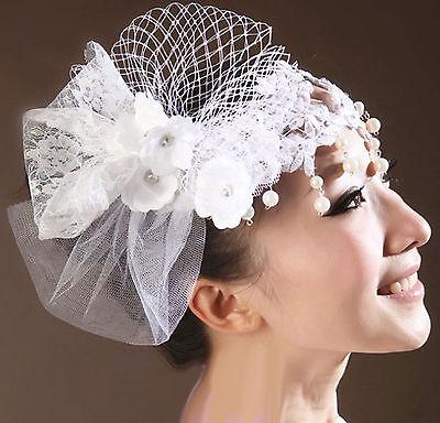 FAUX PEARL BRIDAL WEDDING BRIDES RHINESTONE PAD FLOWER PEARL HAIR CLIP