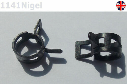 10mm Black Spring Fuel Oil Water Hose Clip Pipe for Band Clamp Metal Fastener