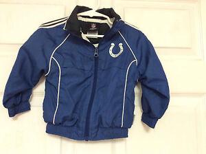 size 40 2b43d 74939 Details about Reebok NFL Colts windbreaker jacket baby toddler size 2T blue  25