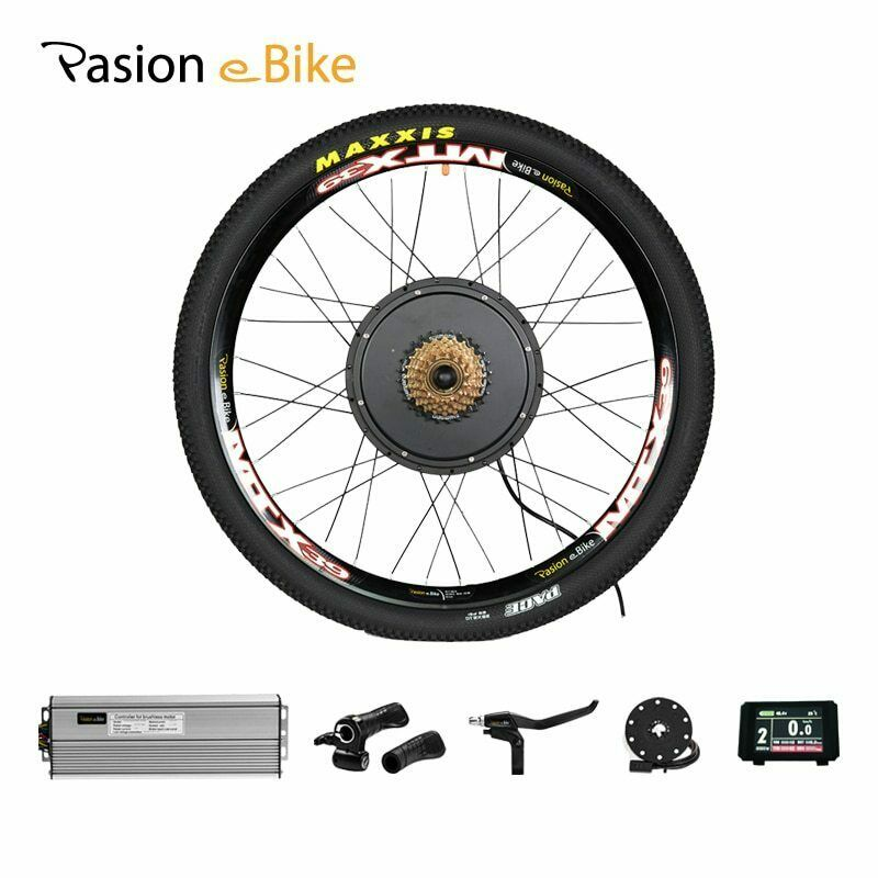 48V 1500W Electric Cykel Kit 7 -Speed Motor Wheel e Cykel Congrönion Kit 1500W för