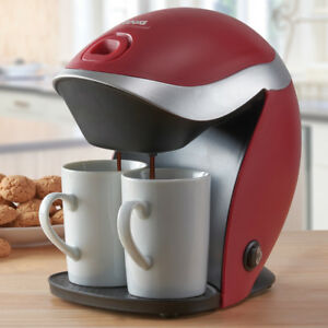 Image Is Loading Coffee Machine Maker 2 Cups Mugs Included Reusable