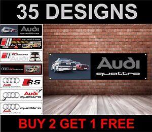 Per-Audi-Quattro-Turbo-Banner-per-Officina-Garage-Men-Cave-Concessionario