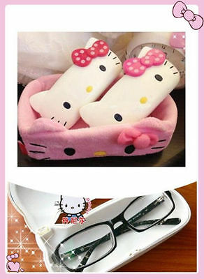 Bow Cute dot HelloKitty Hard Shell Glasses Eyeglass/pencil Case Box lyo-p54