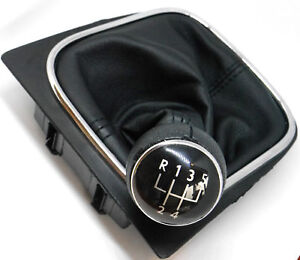 Pomo-Funda-Palanca-de-Cambio-5-Velocidad-para-VW-GOLF-V-VI-MK5-Nuevo-TOP