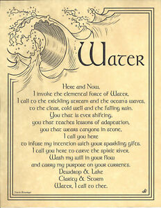 Element-of-WATER-Right-Invocation-Page-Poster-Guidandce-Wicca-Pagan-8-1-2x11-Art