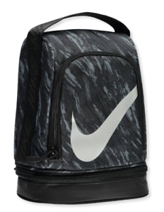Details About Nike Lunch Box 2 Compartments Black Gray Bag Tote