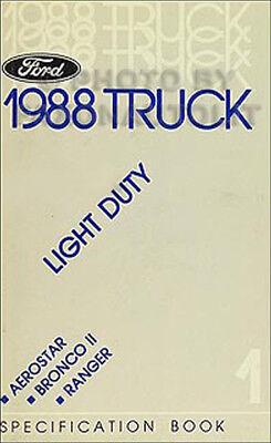 Bescheiden 1988 Ford Service Brille Buch Ranger Bronco Ii Aerostar Waren Jeder Beschreibung Sind VerfüGbar