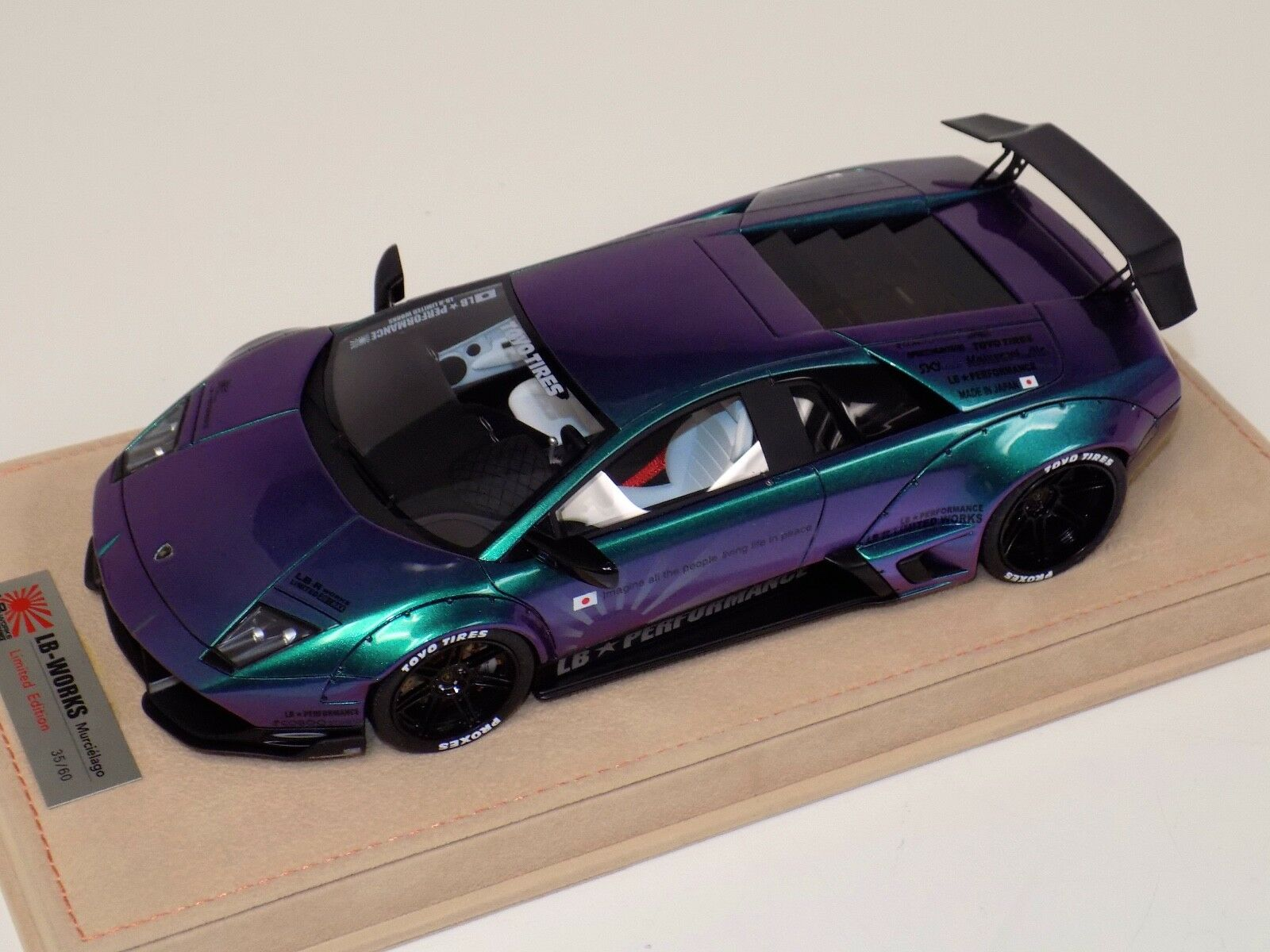1/18 Lamborghini Murcielago Liberty Walk LB Performance in Chameleon  BBR or MR