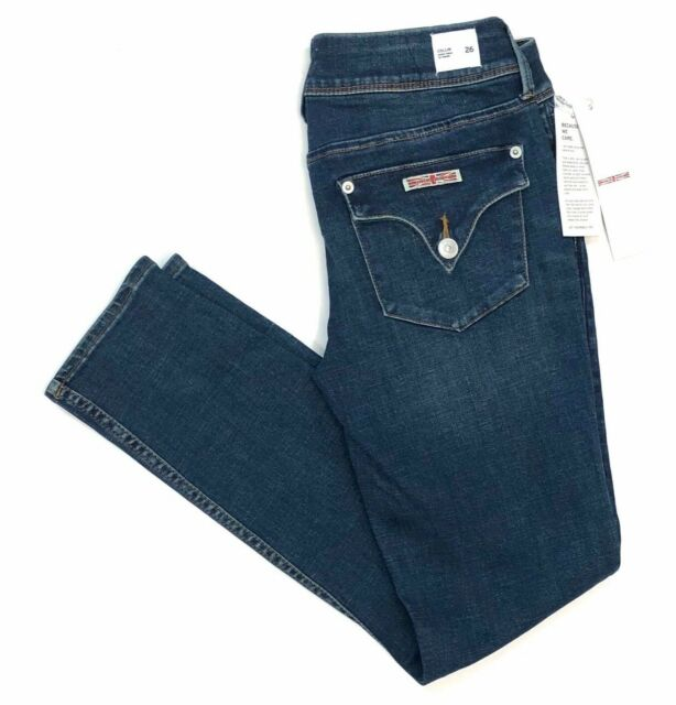NWT Hudson Denim Collin Skinny Ankle Jeans Hush Wash Flap Pockets $189 Sz 26