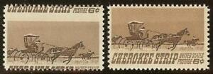 "1360 - 6c Misperf Error / EFO Racing for Homestead ""Cherokee Strip"" Mint NH"