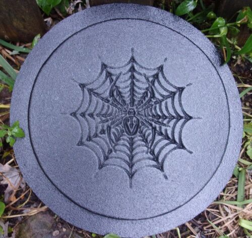 "Spider plaque mold 10/"" x .75/"" thick plastic mold for plaster concrete casting"