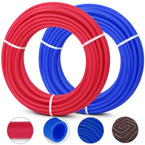 Details about 1/2x2x100ft (200ft) Feet Pex Tubing Oxygen Barrier Pex-B  Radiant Floor Heat Red