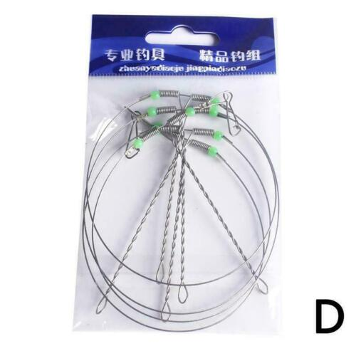Stainless Steel Trace Wire Leader Fishing Line Leaders Snap /& With New J7O4