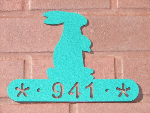 RABBIT HOUSE ADDRESS SIGN WALL DECOR  HOME YARD BUNNY