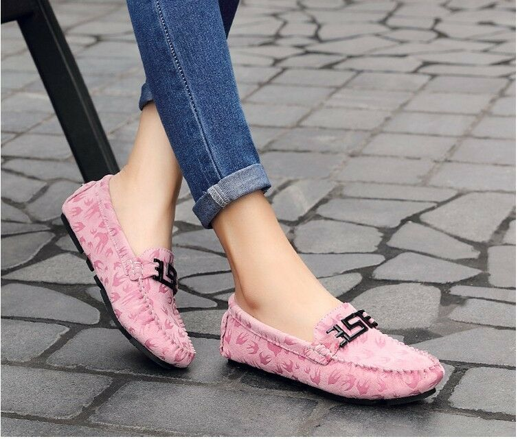 New Women's Driving Casual Boat Shoes Leather Leather Shoes Shoes Moccasin Slip On Loafers 600949