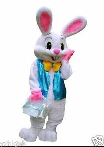 d4083c0376b4a 2019 Easter Rabbit Mascot Costume Rabbit Party Dress Suits Adult ...