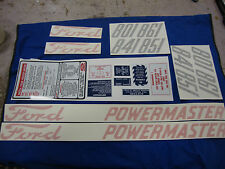 801 841 851 861 Ford Tractor Powermaster Decal Complete Set