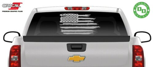 American Flag Distressed decal sticker vinyl graphic USA car truck window jeep B