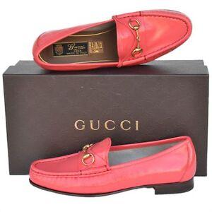 GUCCI New sz 37 - 7 Designer Horsebit Leather Womens Flats ...