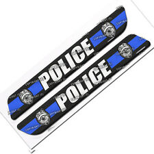 "2 Custom ""Police"" Saddlebag Latch Reflector Decals for Harley Touring Models"