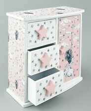 Floss & Rock Party Animals Wooden Trinket Jewellery Box Pink Lovely Girls Gift