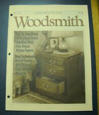 WOODSMITH MAGAZINE AUG 1991  #76 CHERRY NIGHT STAND SHOP STOOL PICTURE FRAMES