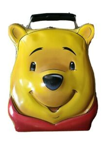 Disney-Winnie-the-Pooh-Head-Face-Lunch-Box-Metal-Tin-Collectible-Vintage
