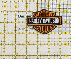 Harley Davidson Motor Cycles Iron On Patch Silver And Black Embroidered