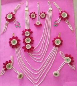 Indian Women Pendent Necklace Set Gold Plated Combo Fashion Jewelry Diwali Z11