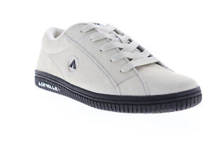 Airwalk-Stark-AW19864-S-Mens-White-Suede-Low-Top-Lace-Up-Athletic-Skate-Shoes