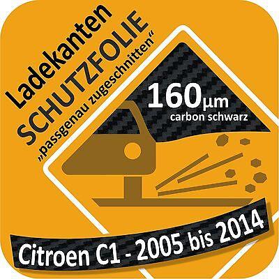 LADEKANTENSCHUTZ Lackschutzfolie für CITROEN C1 ab 2005 schwarz glänzend